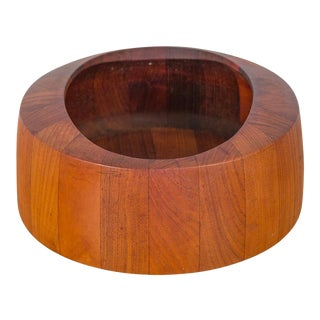 1960s Jens Quistgaard Oval Teak Bowl for Dansk For Sale