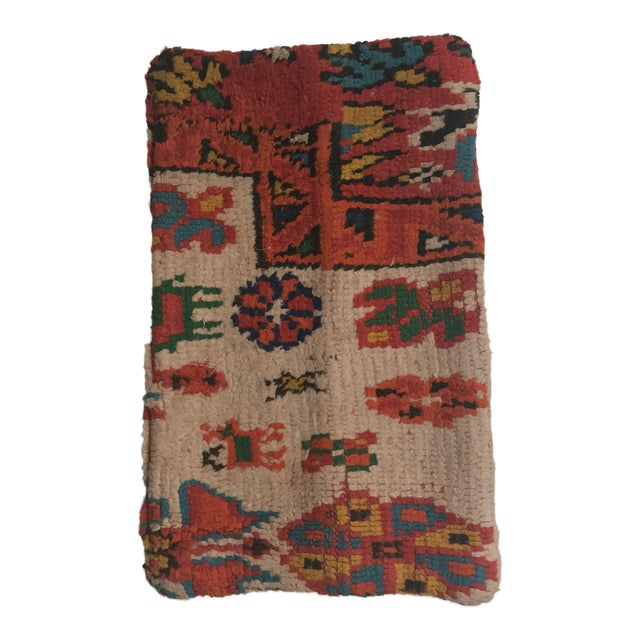 Vintage Moroccan Rug Wool Pillow - Image 1 of 11
