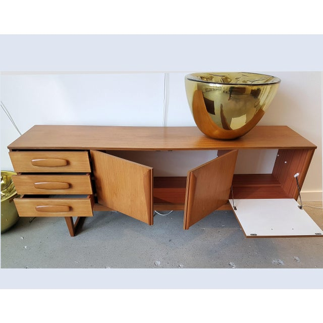 Danish Modern Mid Century Modern Danish Clear Cherrywood Buffet, Credenza, 1960s For Sale - Image 3 of 9