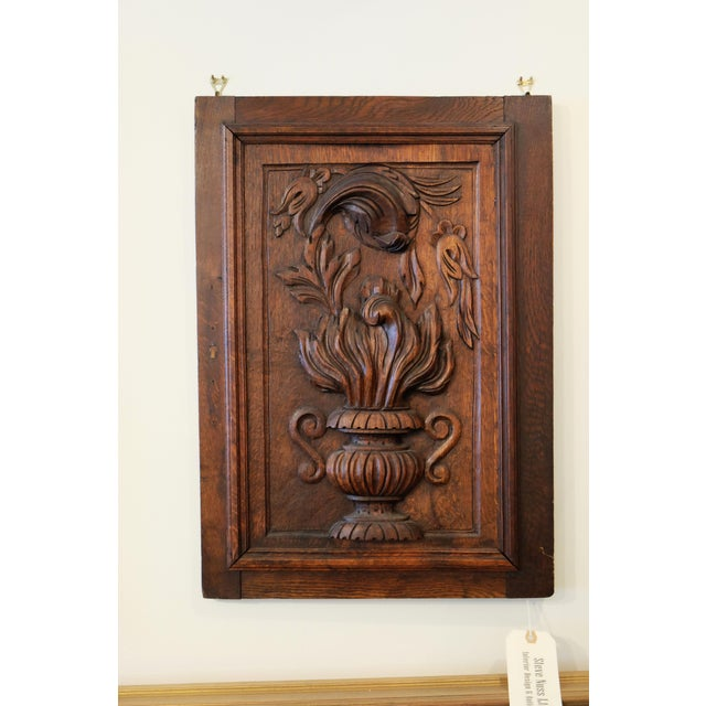 Antique European Carved Walnut Panel For Sale - Image 4 of 5