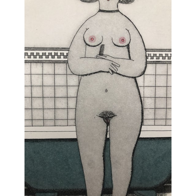 Female Nude Etching Winter Jan Balet Etching 1960s For Sale - Image 4 of 7