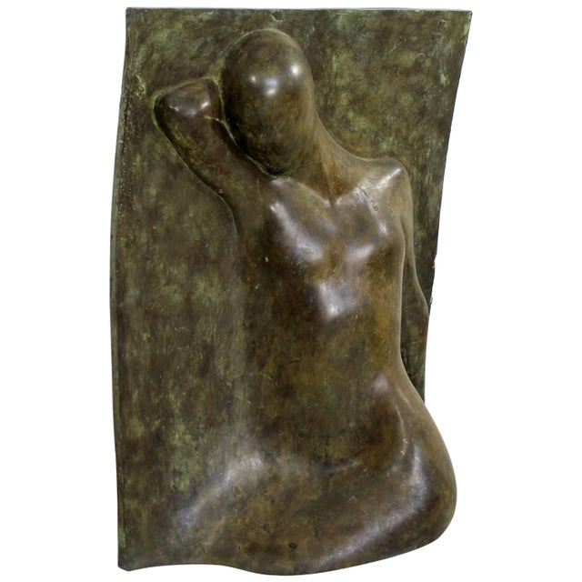 Bronze Bronze Relief Sculpture Titled the Panel by Caroline Stacey For Sale - Image 7 of 7