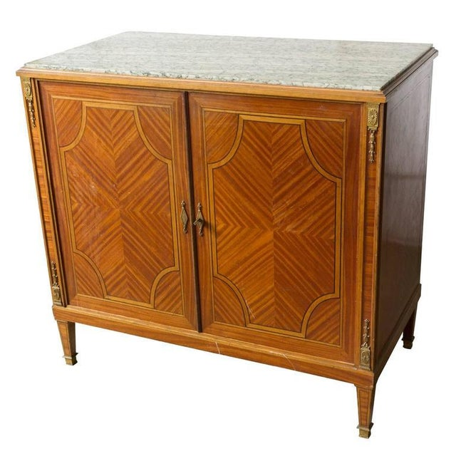 French Cabinet With Marble Top For Sale - Image 11 of 12