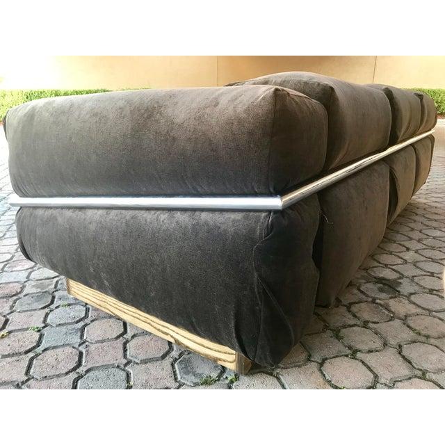 Gray Restored Craft Associates Chrome Sofa For Sale - Image 8 of 9