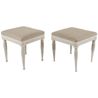 Swedish Gustavian Period Painted Stools, Circa 1790 For Sale