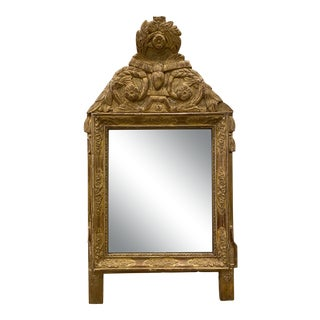 Antique Wood Guilded Mirror For Sale