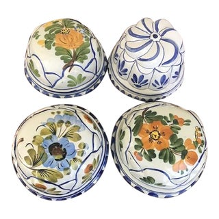 Vintage Hand Painted Italian Ceramic Molds - Set of 4 For Sale