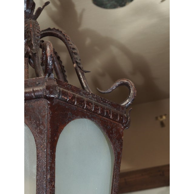 French Iron Lantern For Sale - Image 4 of 7