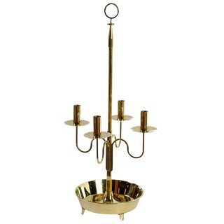Large Tommi Parzinger Brass Candelabra for Dorlyn For Sale
