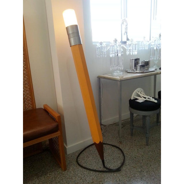 Mid-Century Modern Mid-Century Modern Pop Art Louis Mueller Sculpture of a #2 Pencil - Illuminated For Sale - Image 3 of 13