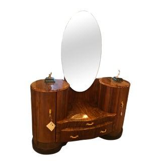 Art Deco Vanity/Mirror For Sale