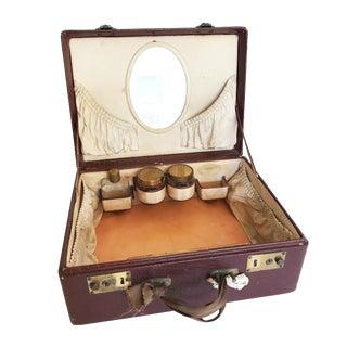 Vintage K. Kaufmann Leather Train Dressing Case For Sale