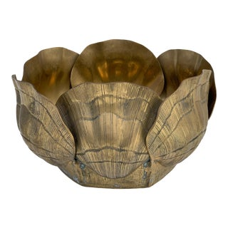 Large Brass Sea Shell Planter For Sale