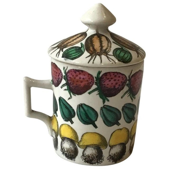 1960s Fornasetti Giostra Di Frutta Mug with Lid For Sale In New York - Image 6 of 6