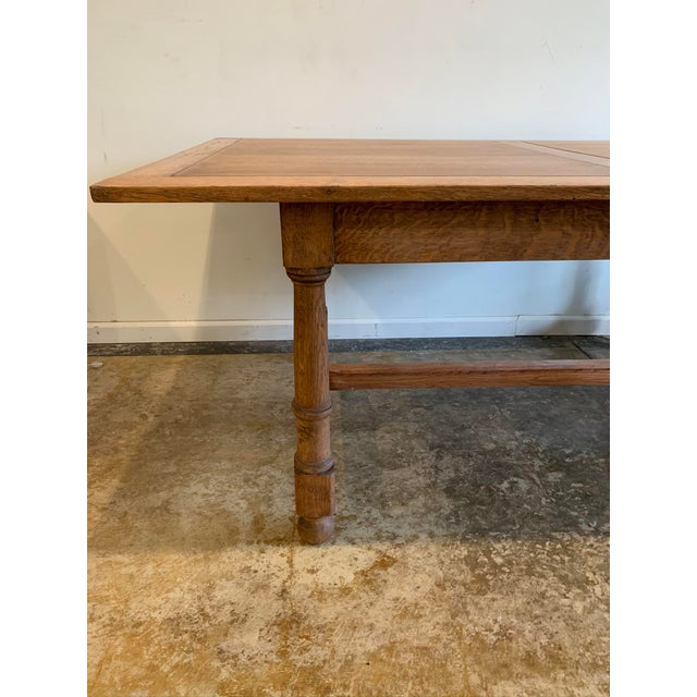 Antique French Farm Dining Table For Sale In Los Angeles - Image 6 of 9
