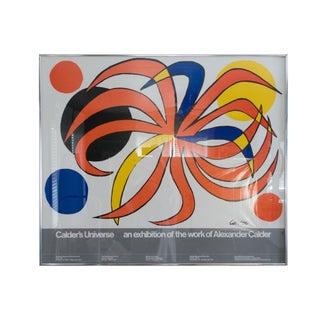 1977 Vintage Calder's Universe Whitney Museum Exhibit Poster For Sale