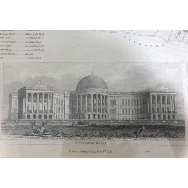 Wood 19th. Century Antique Map of Calcutta, India With Fort William 1852 by the Society for the Diffusion of Useful Knowledge For Sale - Image 7 of 13