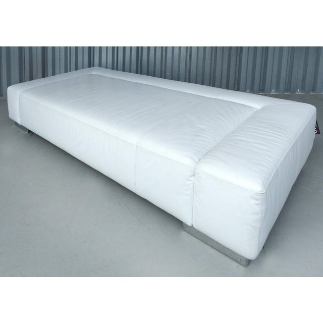 """Animal Skin """"Sunrise Two"""" Leather Bruehl of Germany Daybed For Sale - Image 7 of 11"""