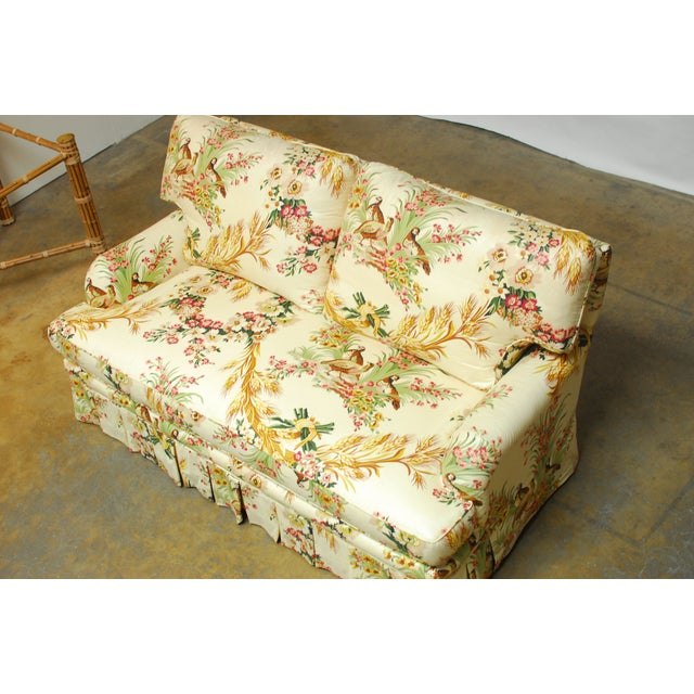 Brunschwig & Fils French Upholstered Toile Sofa For Sale - Image 5 of 10