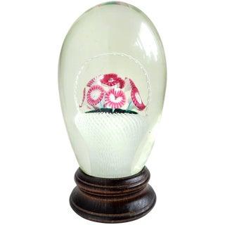 Fratelli Toso Murano Millefiori Flower Basket Italian Art Glass Paperweight For Sale