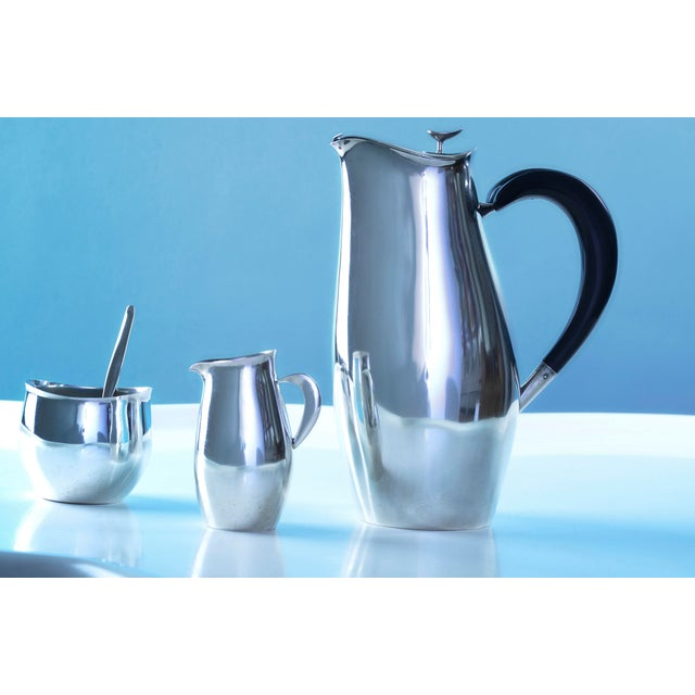Sterling Silver 'Contour' Coffee or Tea Service Designed by Robert King and John Van Koert for Towle Silversmiths Made in...