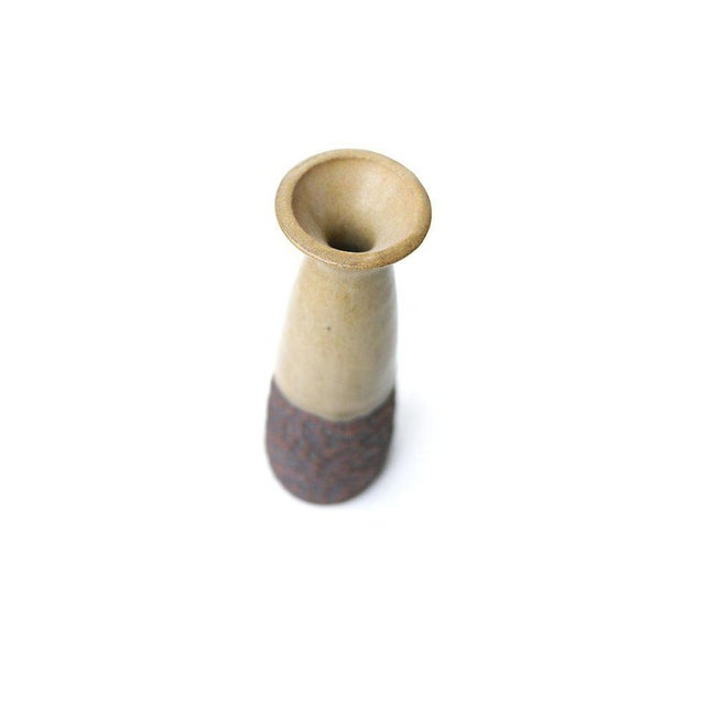 Lovely mid century stoneware vase perfect for a small bouquet or simply as a decorative object on a tabletop or shelf....