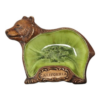 Vintage California Bear Ceramic Ashtray For Sale