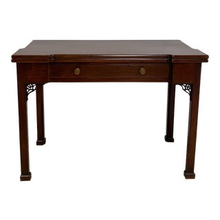 Large American Chippendale Mahogany Game Table Circa 1800 For Sale