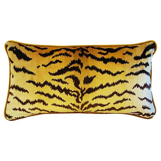 Scalamandre Le Tigre & Mohair Pillow - Image 3 of 5