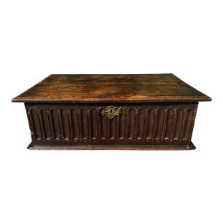 Antique 17th Century Charles II Oak Box For Sale