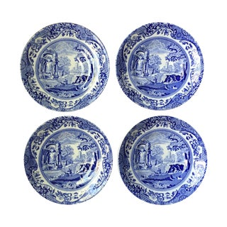 Spode Vintage Blue Italian Saucers - Set of 4