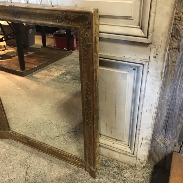 Traditional Large 19th Century French Empire Giltwood Mirror For Sale - Image 3 of 11
