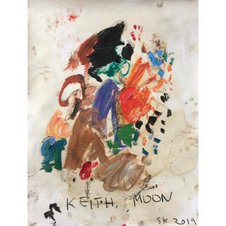 'Keith Moon' Abstract Oil Painting by Sean Kratzert For Sale