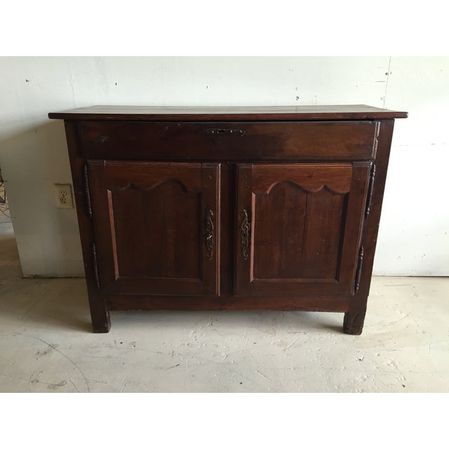 Antique French Country Walnut Cabinet - Image 2 of 11