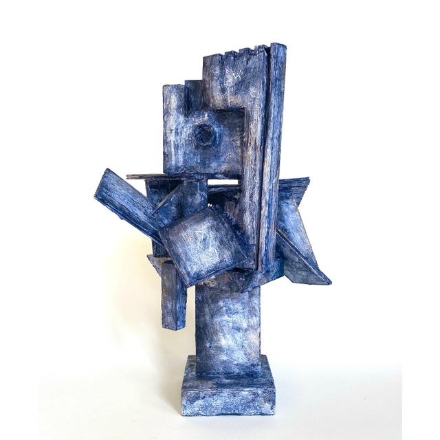 Mid-Century Modernist / Cubist Sculpture For Sale - Image 6 of 6