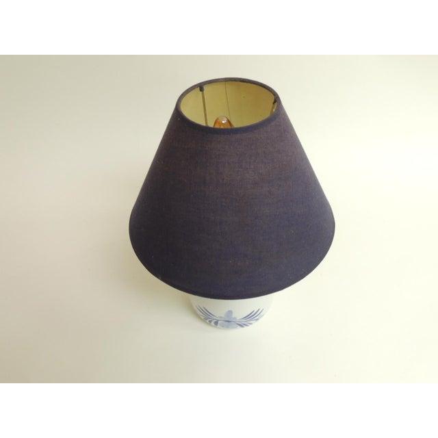 Blue & White Ceramic Table Lamp - Image 3 of 4
