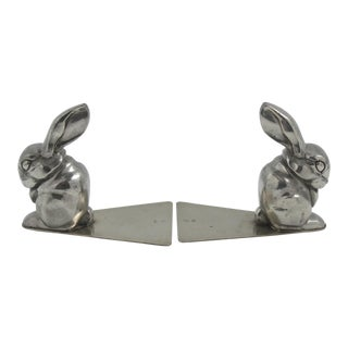 George Nilsson for Gero Art Deco Rabbit Bookends - a Pair For Sale