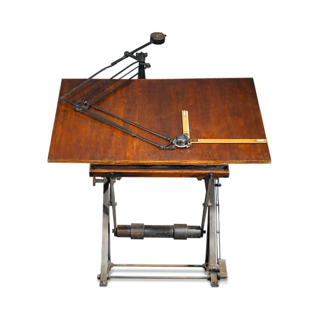 Antique Architect's Table For Sale - Image 4 of 4