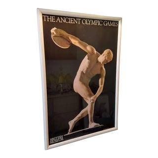 1980 Vintage British Museum Poster, Greek Discus Thrower For Sale
