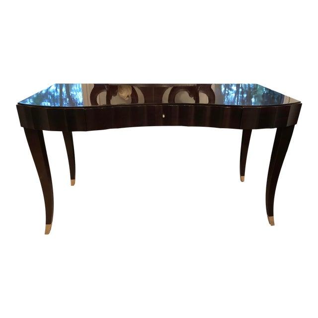 Barbara Barry Baker Black Lacquered Desk For Sale