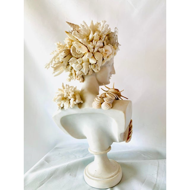 Christa's South Seashells Shell-Encrusted Diana Bust For Sale - Image 4 of 6