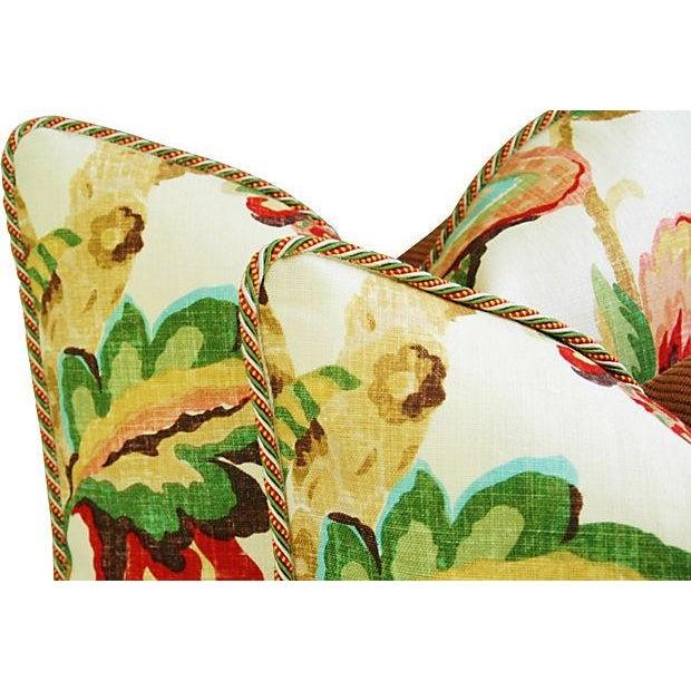 Designer Schumacher Kelmscott Manor Pillows - Pair - Image 3 of 7