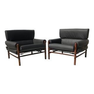 Pair of Arne Norell Kontiki Safari Lounge Chairs For Sale