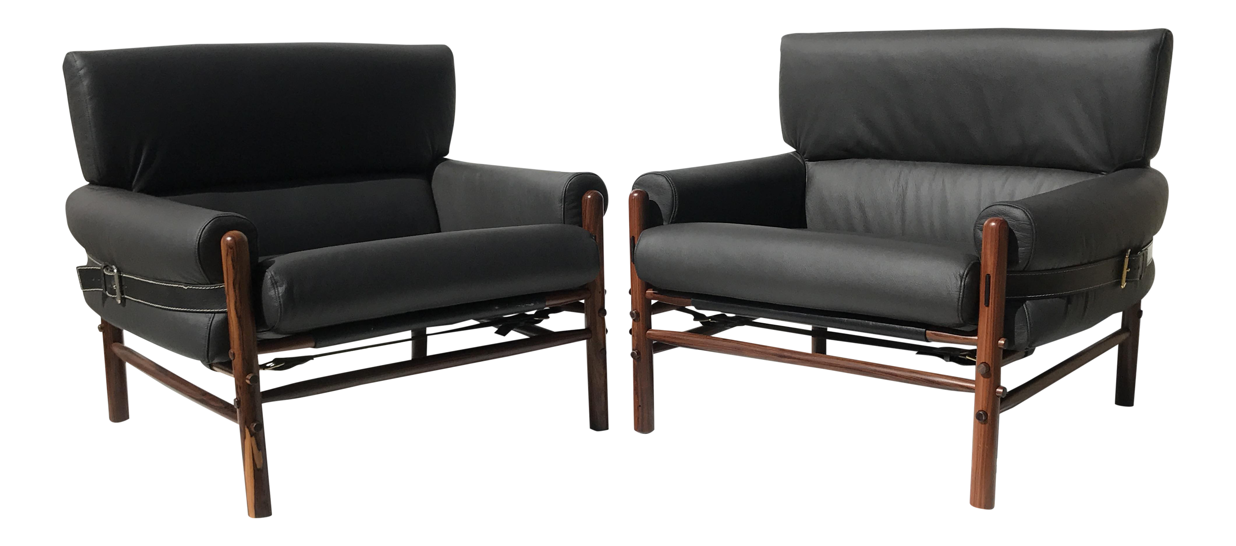 Charmant Pair Of Arne Norell Kontiki Safari Lounge Chairs For Sale