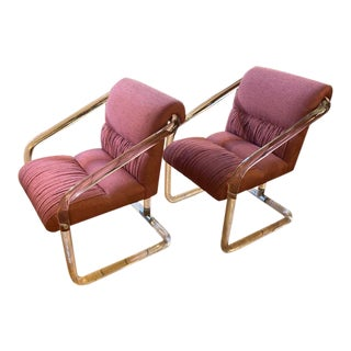 1970s Lucite Hollywood Regency Style Chairs-a Pair For Sale