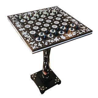 Mother of Pearl Inlay Chess Board Table