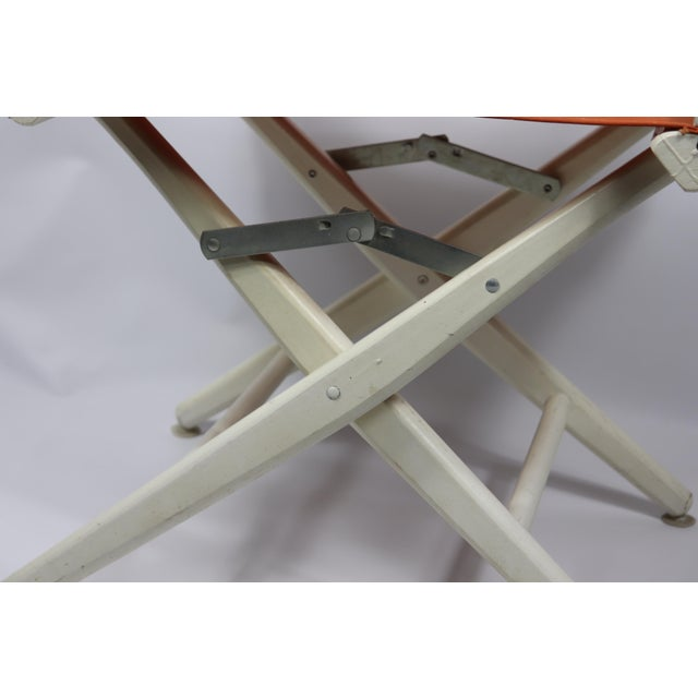 1960s 1960s Vintage Telescope Foldable Folding Directors Patio Chair For Sale - Image 5 of 10