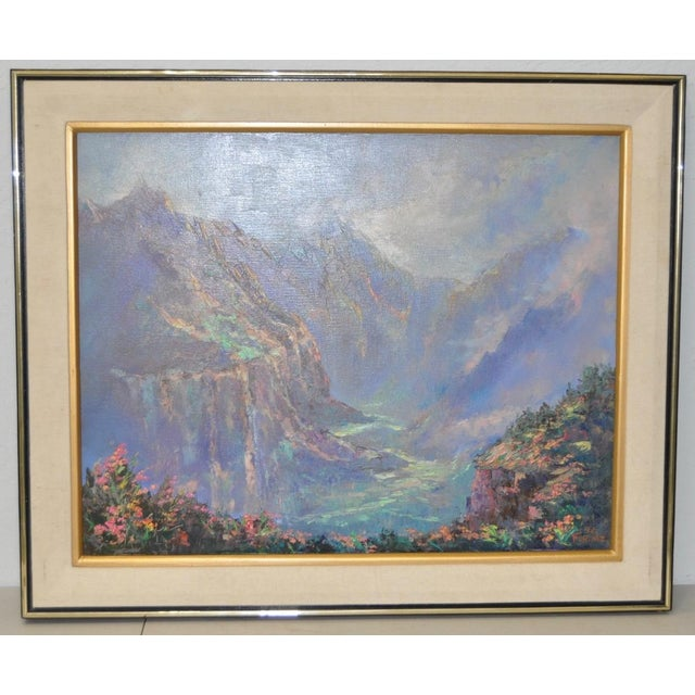 Ed Furuike Oil Painting - Waimea Canyon, Kauai - Hawaii For Sale In San Francisco - Image 6 of 6