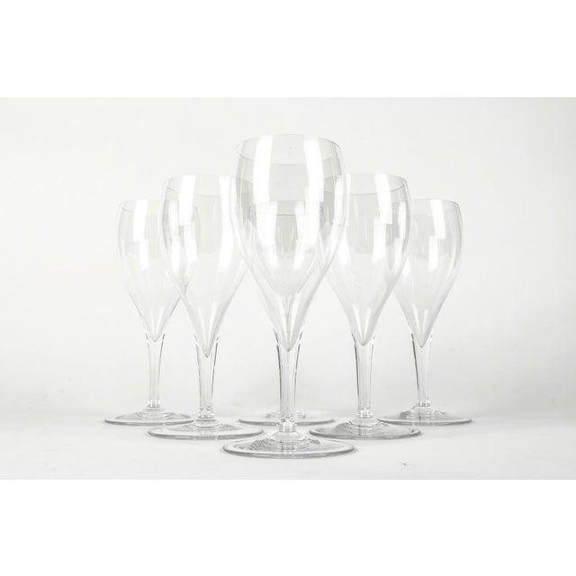 Baccarat Vintage Baccarat Crystal Wine Glassware Set Six For Sale - Image 4 of 7