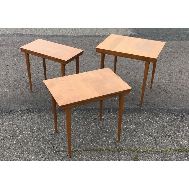 Conant Ball MCM Russell Wright for Conant Ball Nesting Tables - Set of 3 For Sale - Image 4 of 13